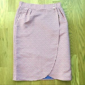 Mission Pink Checkered Pencil Skirt